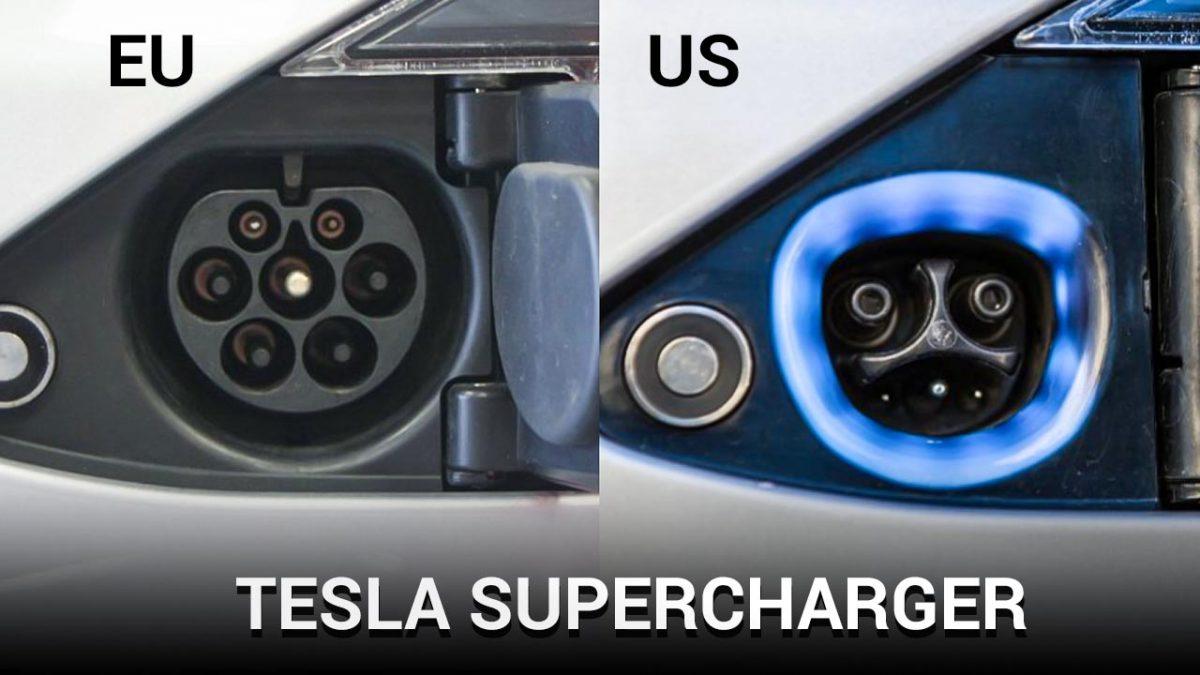 Tesla Supercharger plugs